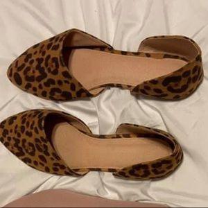Leopard Charlotte Russe flats size 10